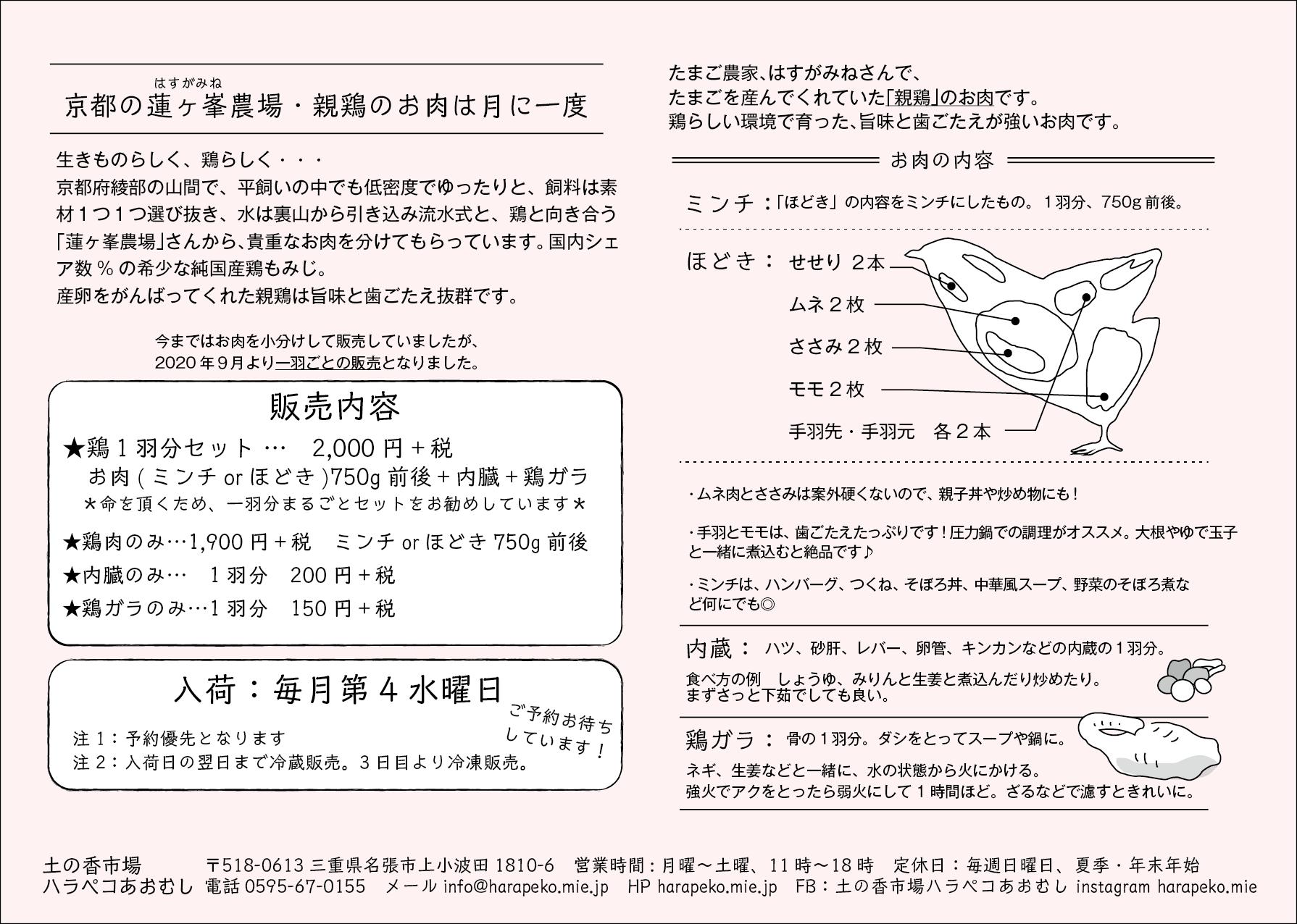 ハラペコ_蓮ヶ峯農場の親鶏お肉紹介ペーパー_cl_アートボード 1
